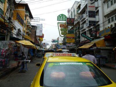バンコク カオサンロード TAXI タクシー