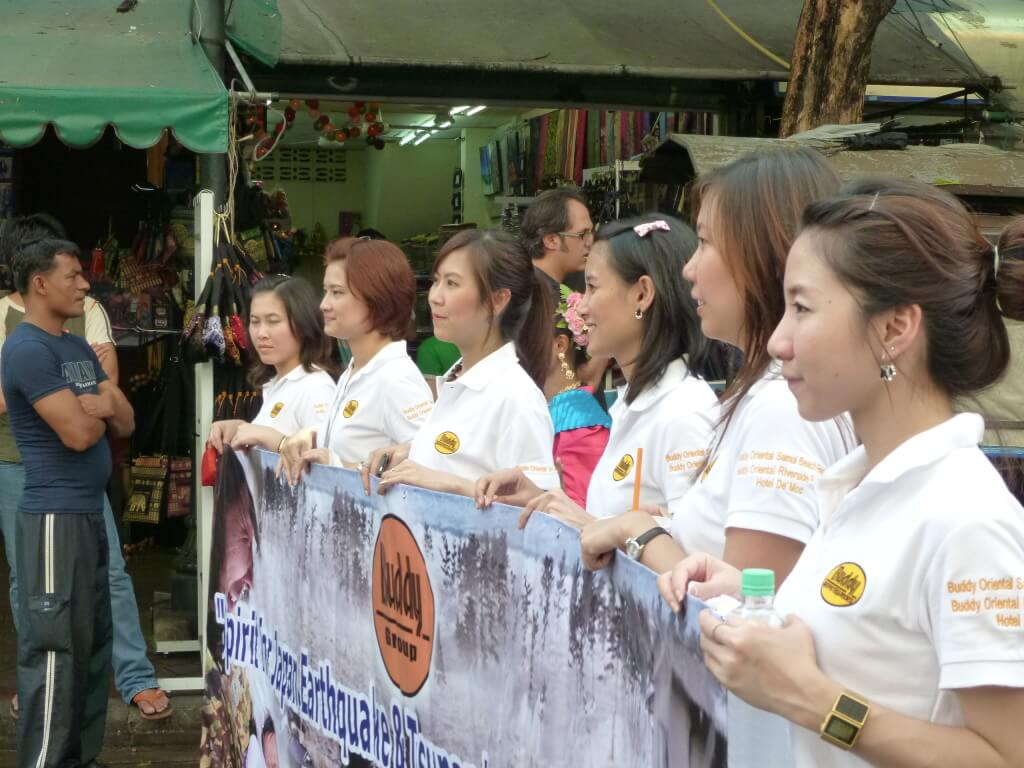 今日の美女 バンコクの東日本震災の義援金活動