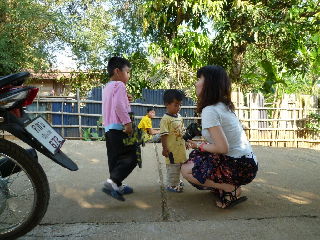 チェンライ 子供と遊ぶ