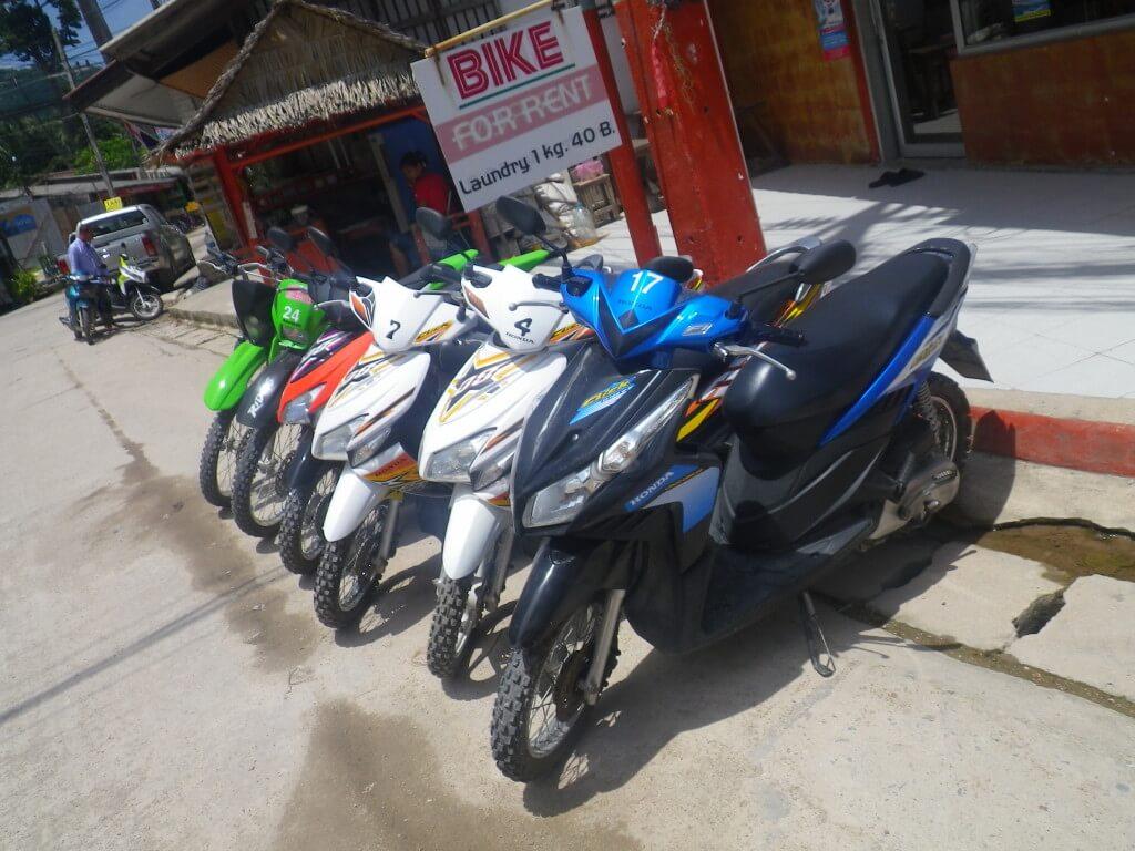 タオ島 レンタルバイク