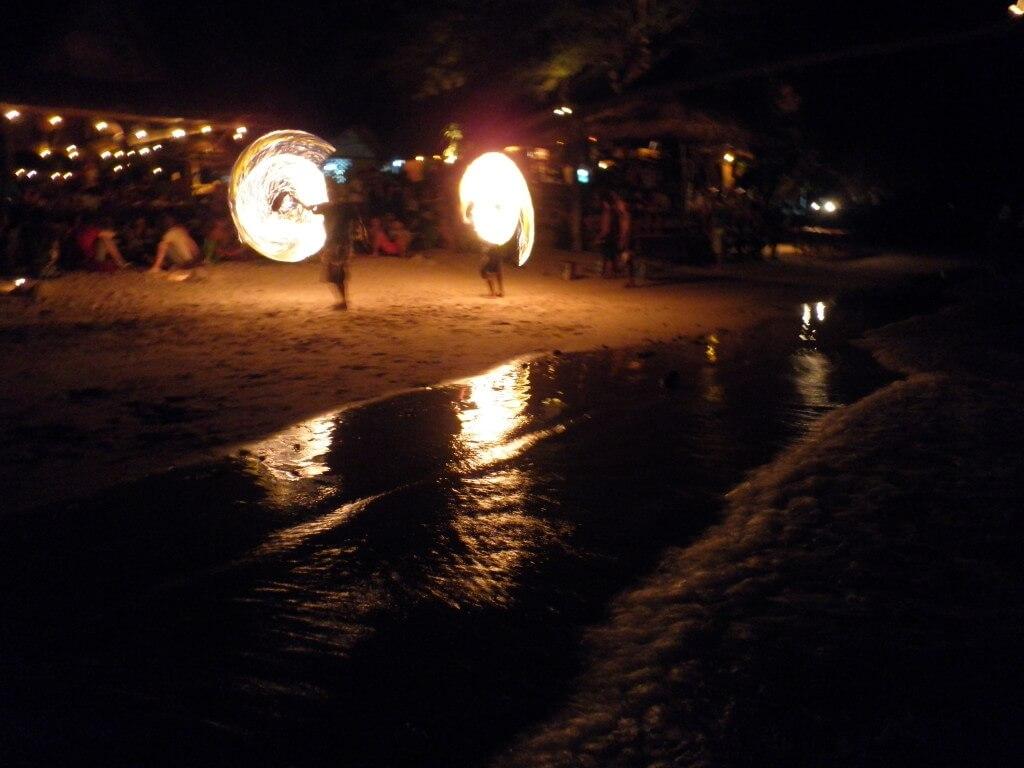 タオ島 ビーチ Bar ファイアーショー