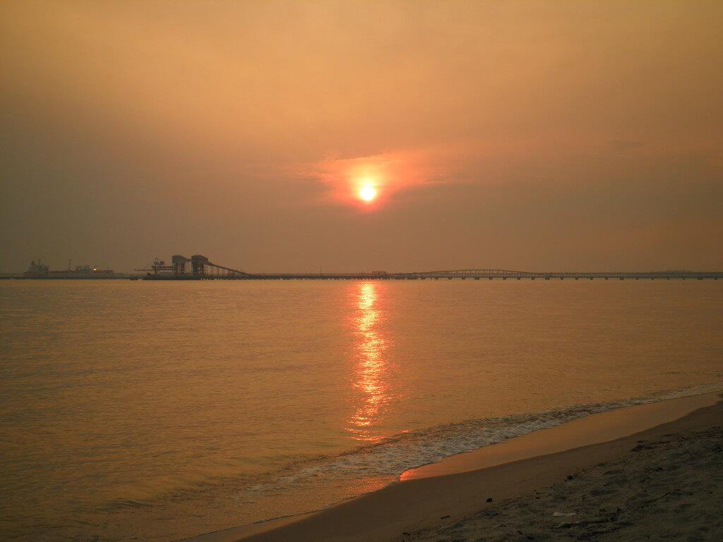 マラッカ海峡 夕日