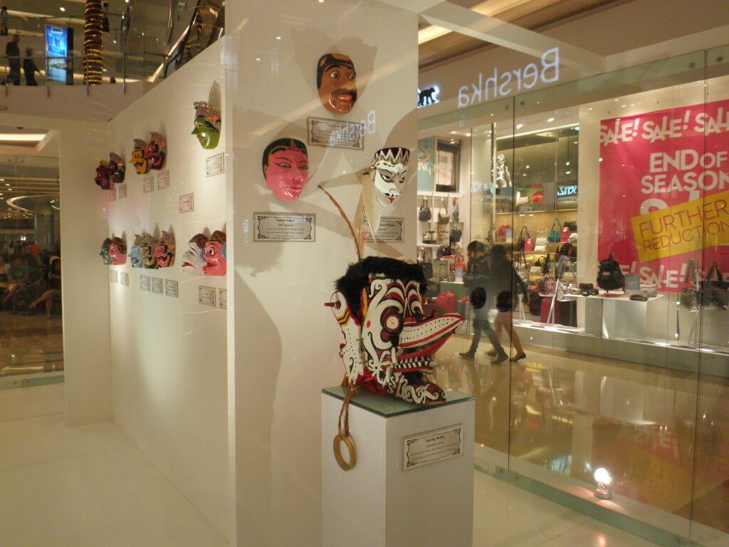 伝統的な仮面 インドネシア