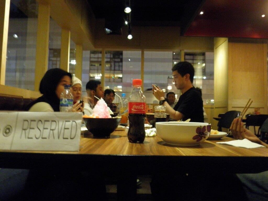 今日のコーラ ジャカルタの日本食レストラン