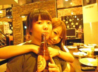 今日の美女 韓国人と日本人の友達