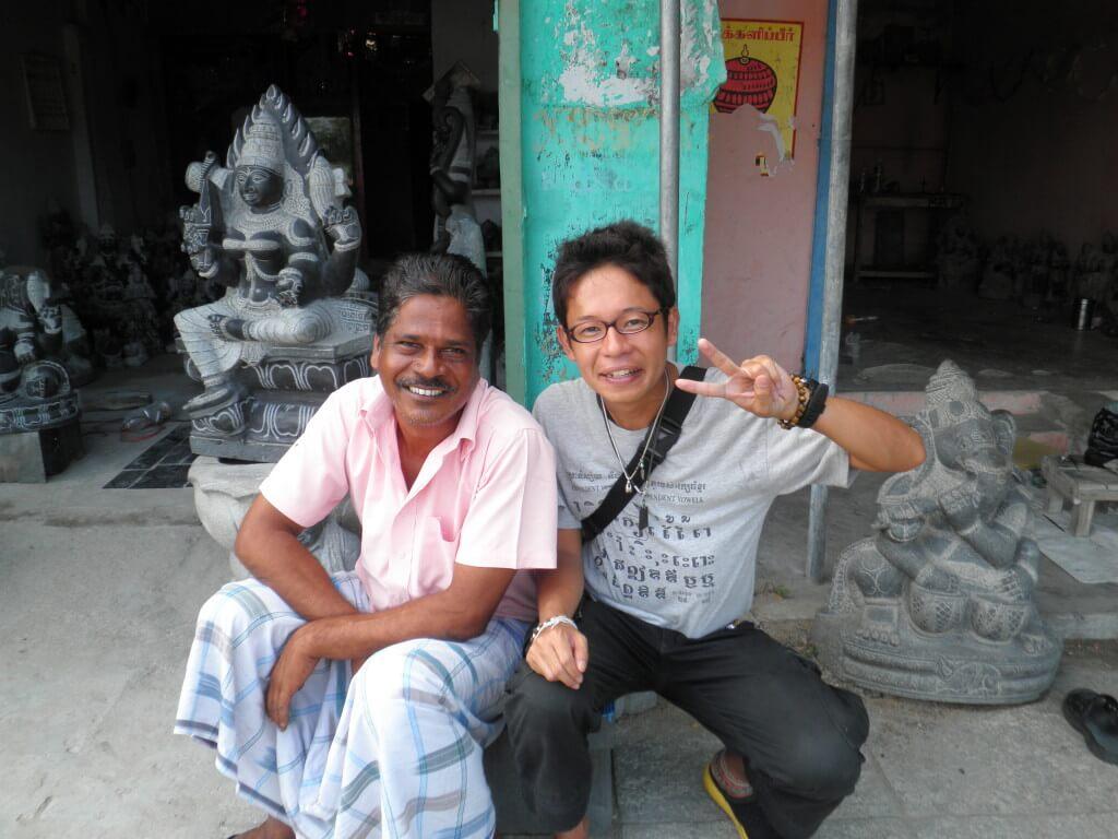 マハーバリプラム 石細工 職人