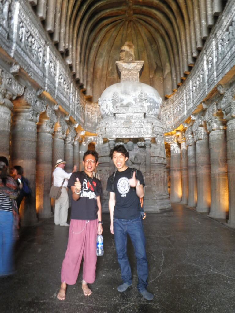 第26窟 アジャンター遺跡 世界遺産 仏教寺院群 壁画 彫刻