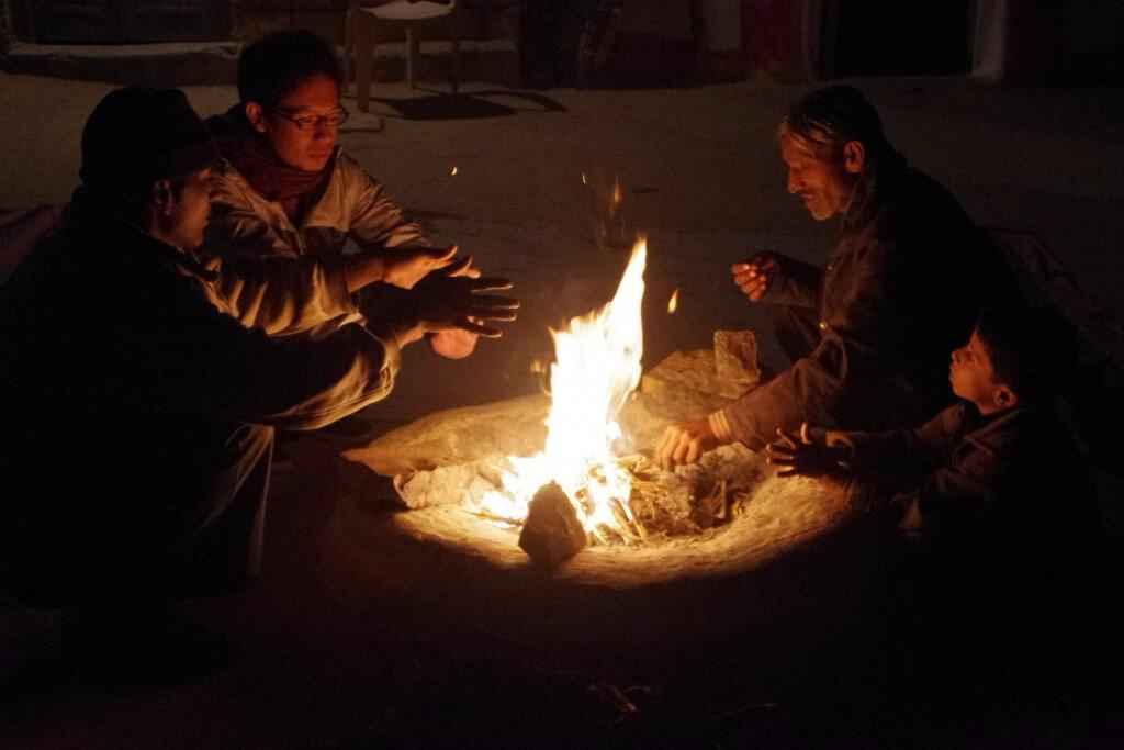 クーリー村 タール砂漠 寒い