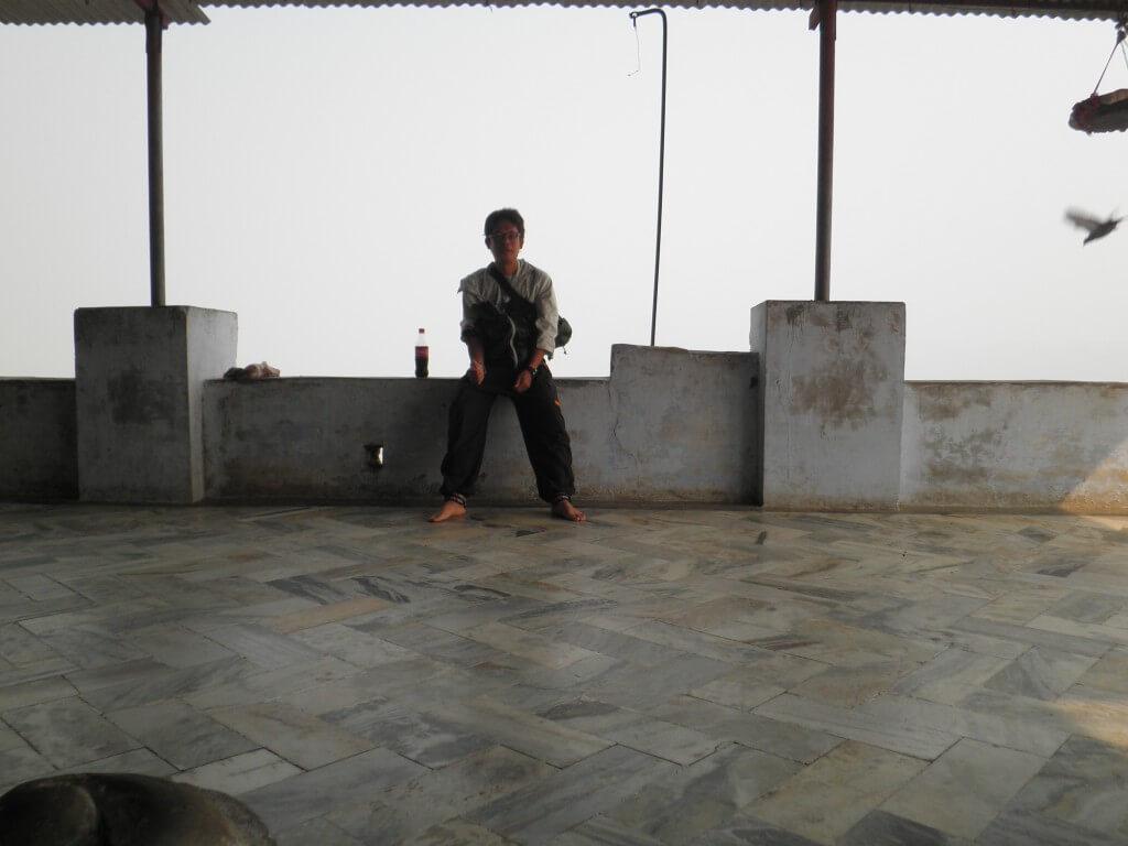 山の頂上 寺院 プシュカル