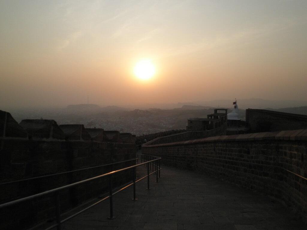 メヘラーンガル砦 夕日