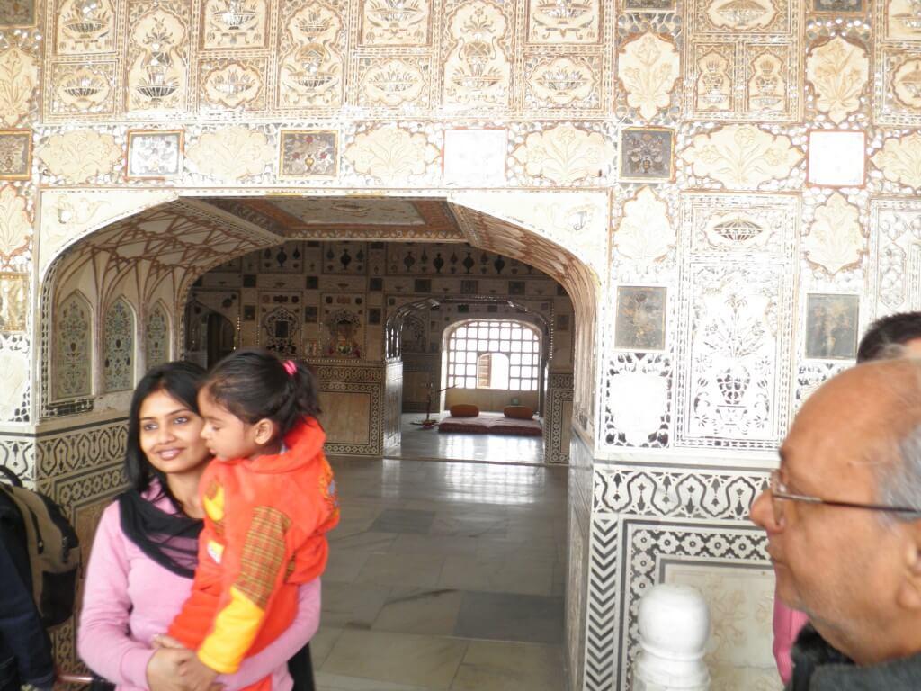 今日の美女 アンベール城であったインド人