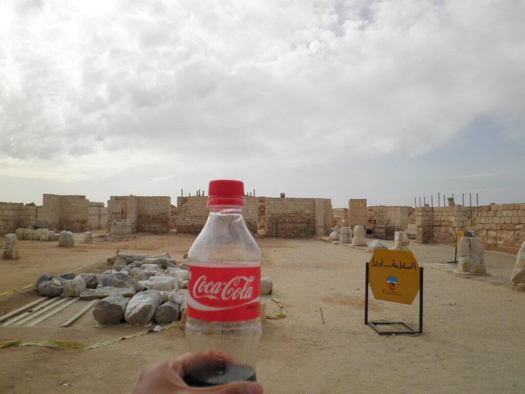 今日のコーラ アブミーナ遺跡で完全アウェー
