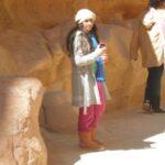 今日の美女 ペトラ遺跡の韓国客の女の子