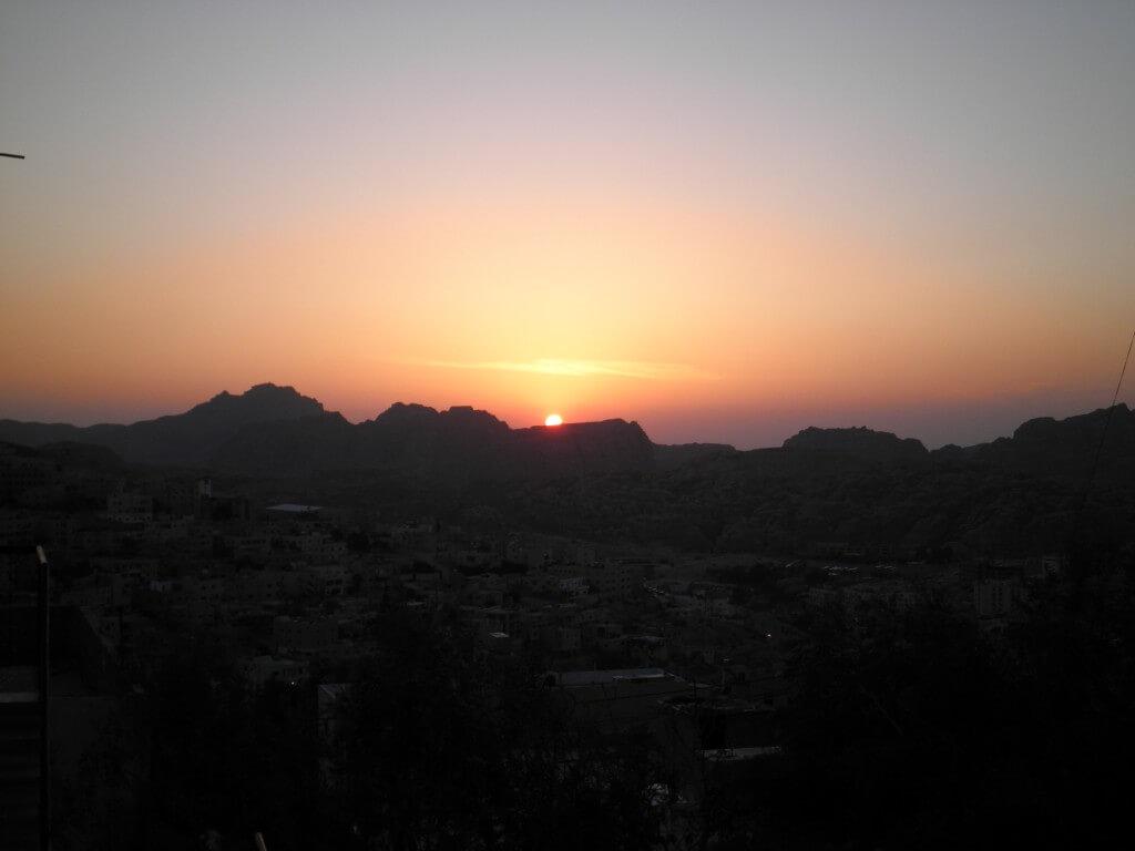 ペトラ遺跡 夕日