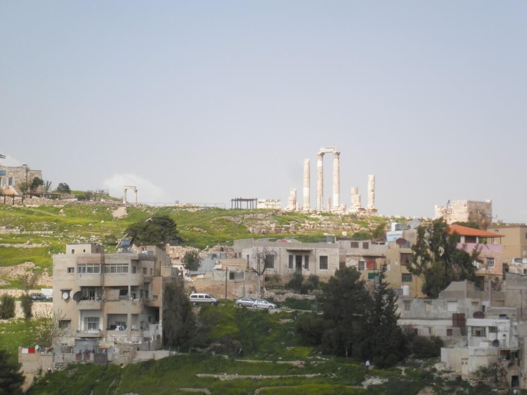 この頃はイスラエルの後に戻ってくる予定だったので軽く、アンマン観光・・・。