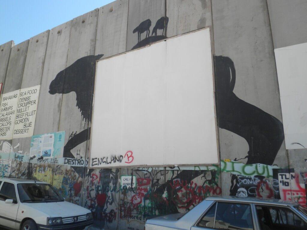 バンクシー ベツレヘムの分離壁の絵