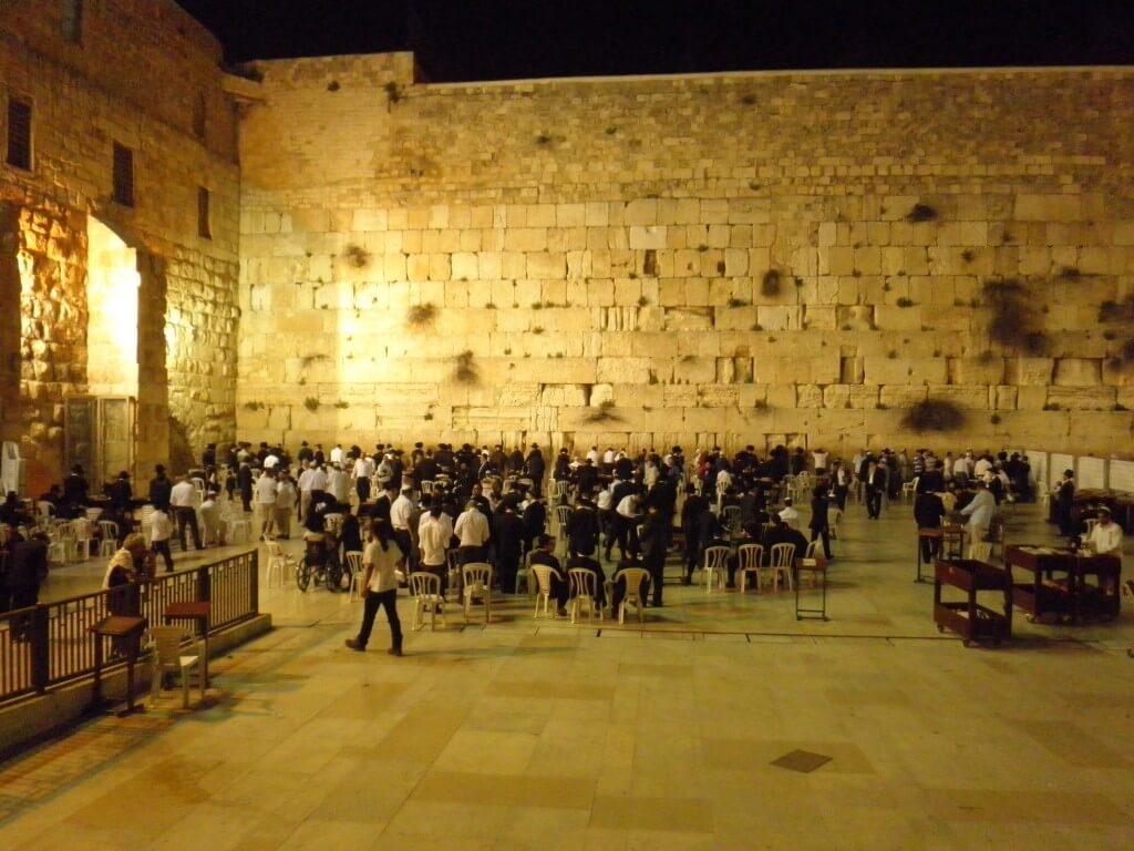 嘆きの壁 夜 エルサレム
