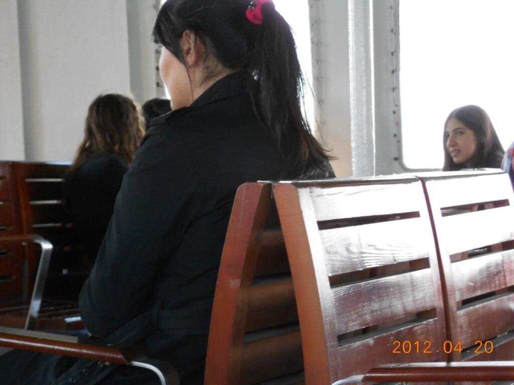 フェリー イスタンブールからアジア側へ かわいい女の子