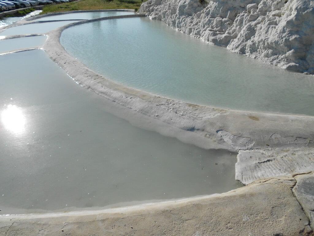 パムッカレ 石灰棚 乳白水 世界遺産