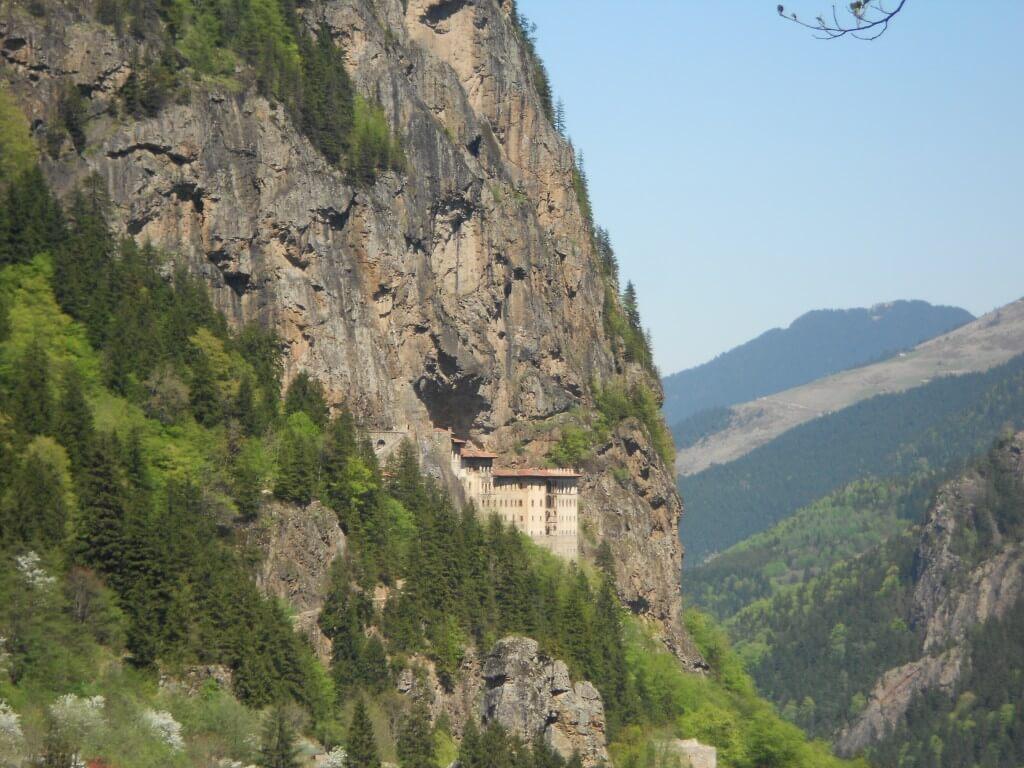 トラブゾン スメラ僧院 崖の上
