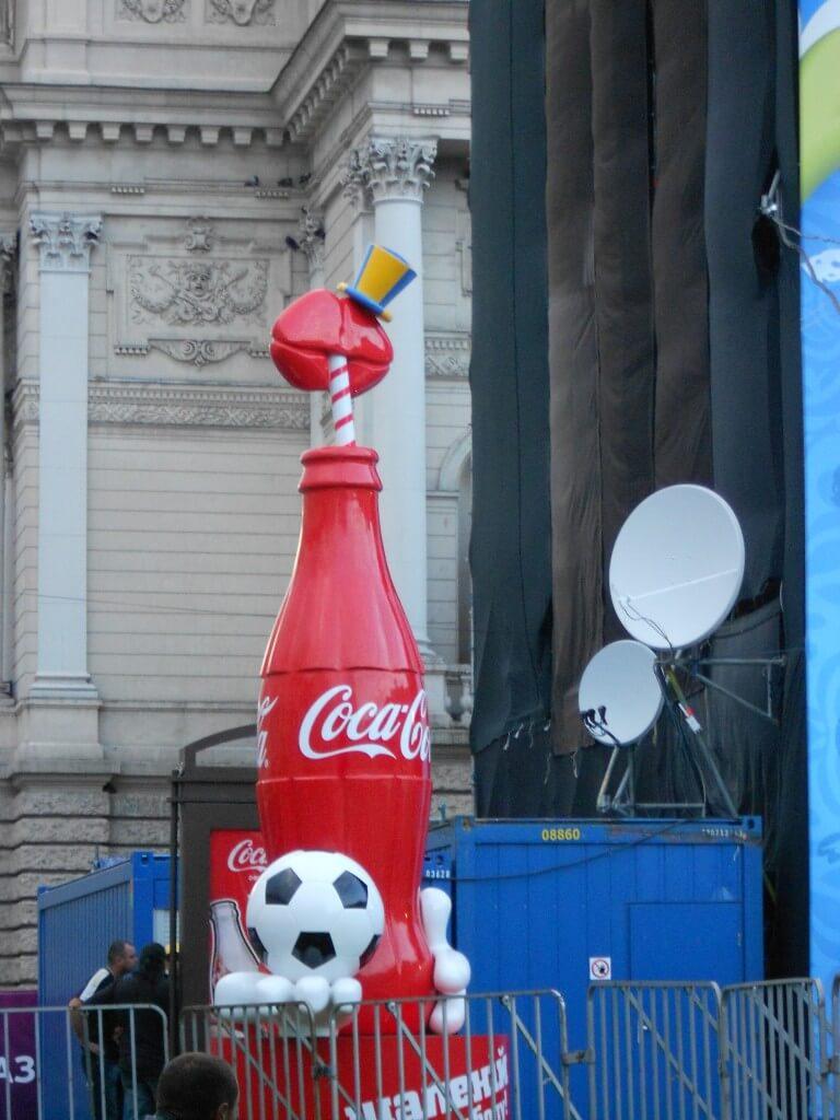 今日のコーラ EURO2012で撮った