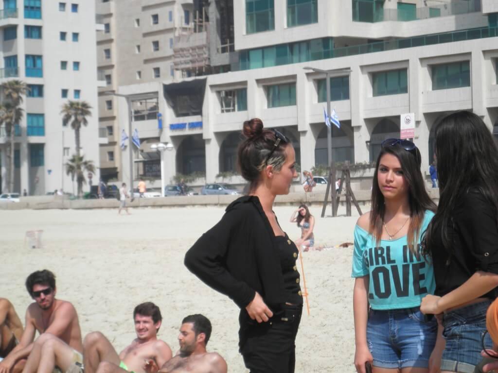 テルアビブ ビーチ 撮影 めっちゃかわいいイスラエル人