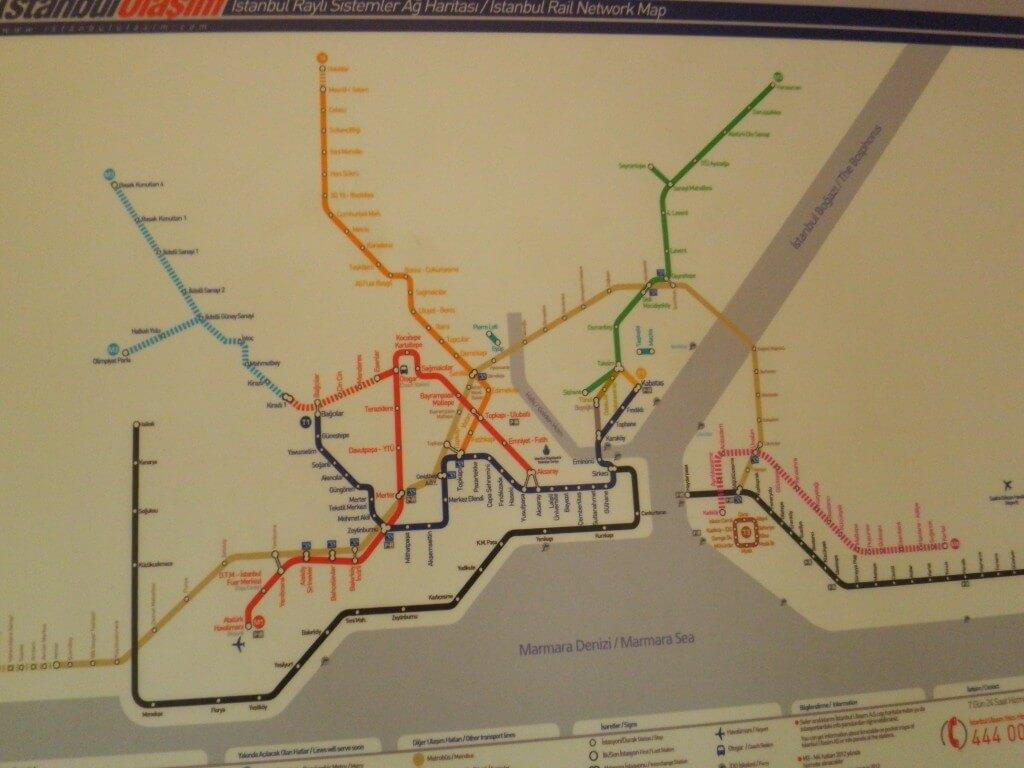 イスタンブール 地下鉄 トラム 路線図