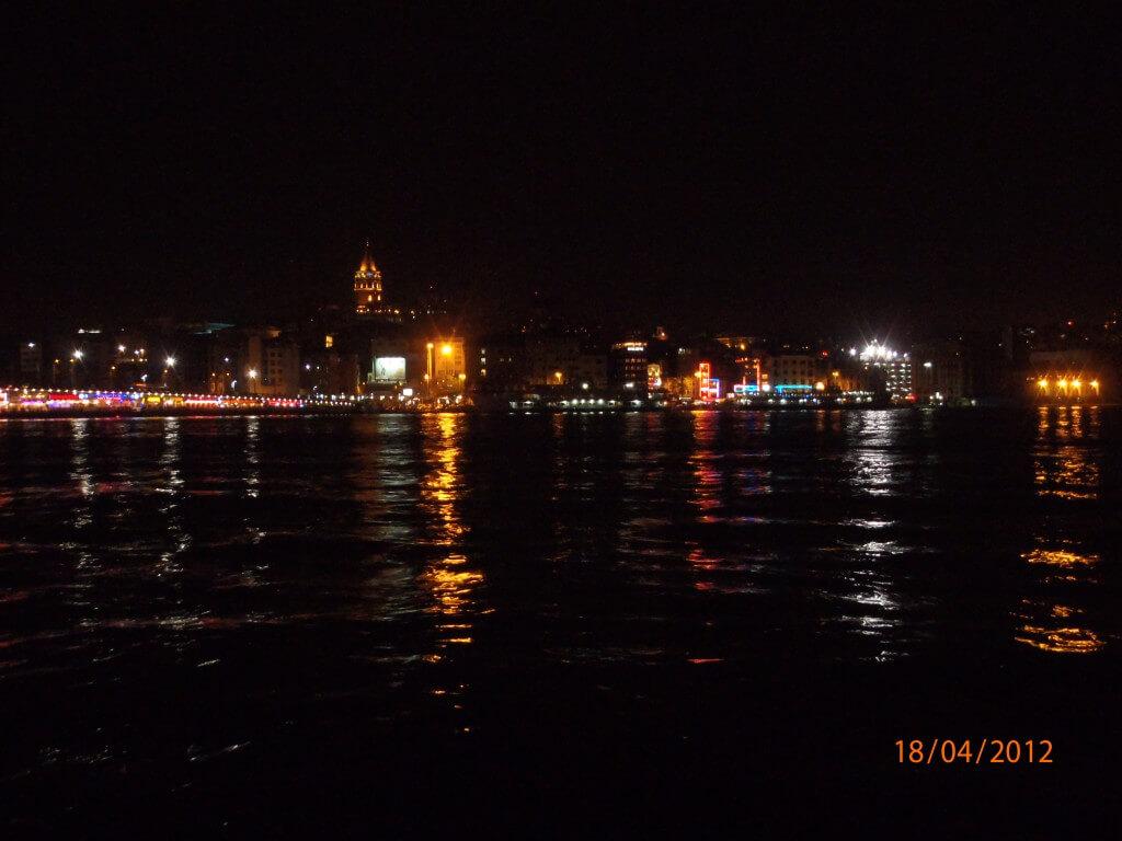 イスタンブール 新市街 夜景 ガラタ橋