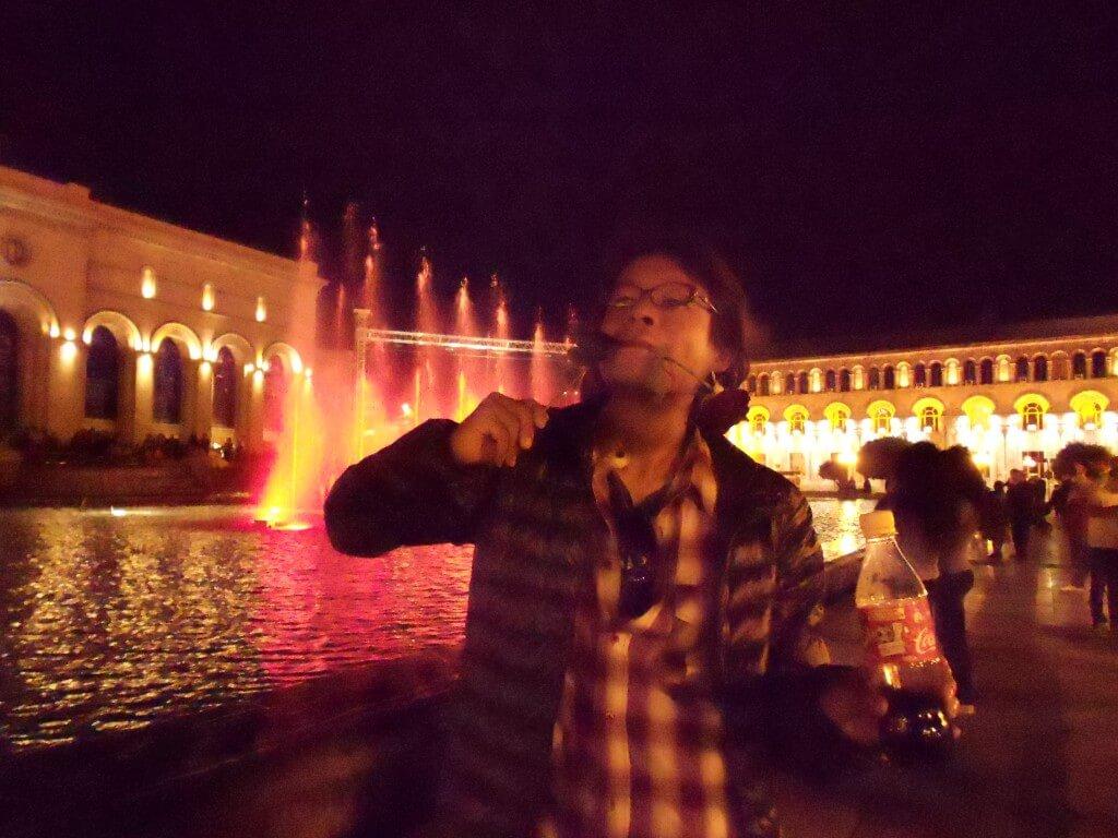 アルメニアのエレバンの噴水ショーは音と光の競演!!