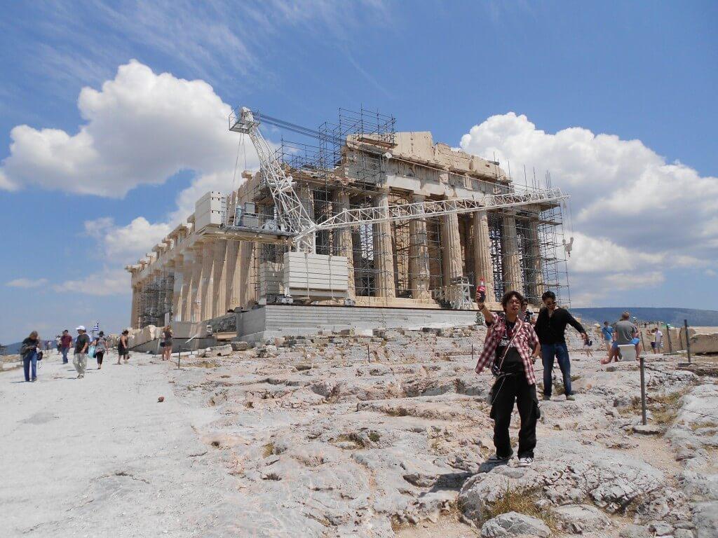 ギリシャ アテネ パルテノン神殿 工事中
