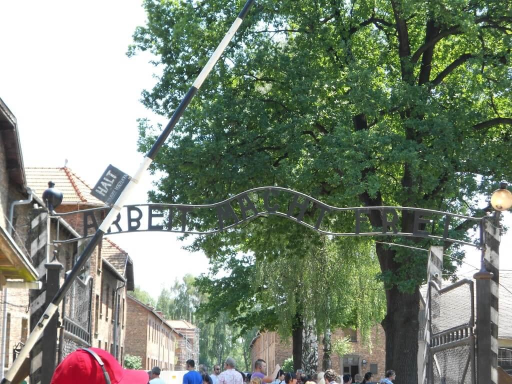ARBEIT MACHT FREI アウシュビッツ強制収容所 クラクフ ポーランド
