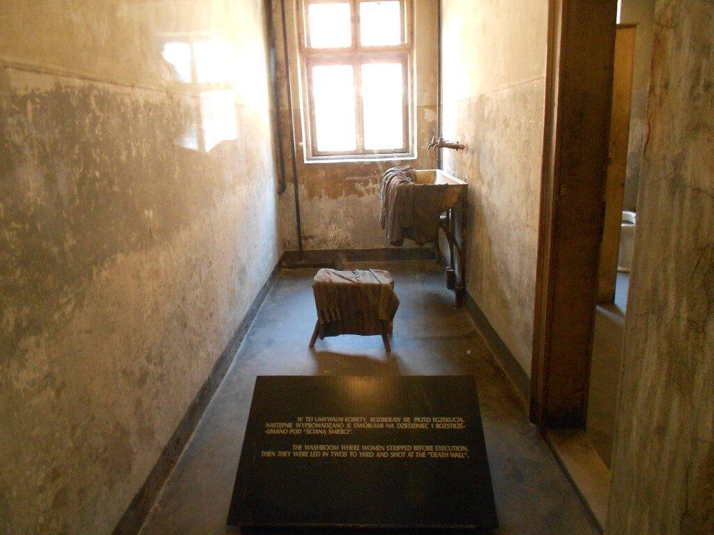 洗面所 アウシュビッツ強制収容所 クラクフ ポーランド