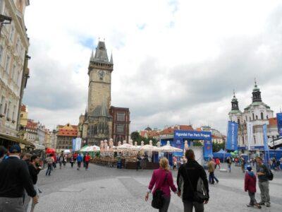 プラハ 旧市街広場 からくり時計