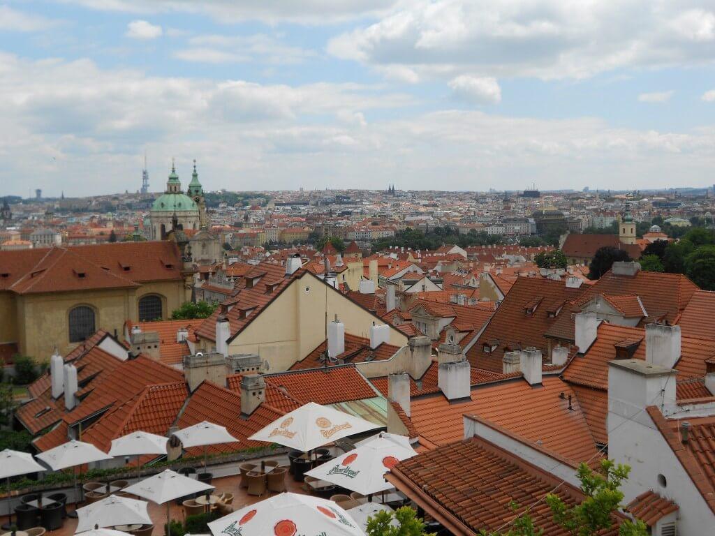プラハの街並み オレンジ屋根