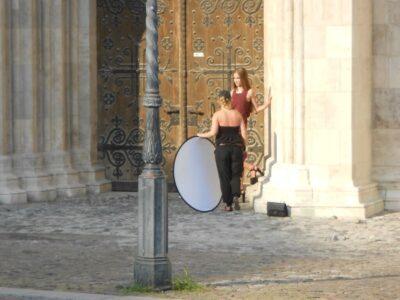 今日の美女 ブダペストの王宮の丘で撮影してたハンガリーのモデルさん?