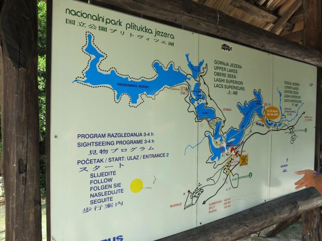 プリトヴィツェ湖群国立公園 マップ 地図 宿泊施設