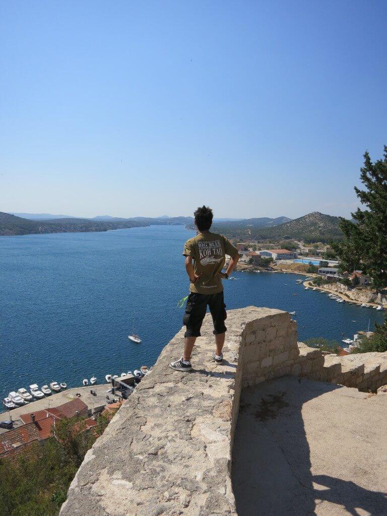 シベニク 街並み 世界遺産 地中海 クロアチア