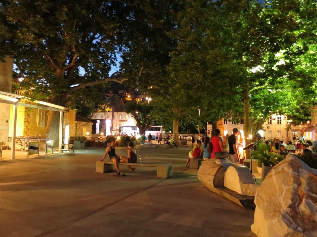 ドブロブニク 旧市街 公園 ロマンチック クロアチア
