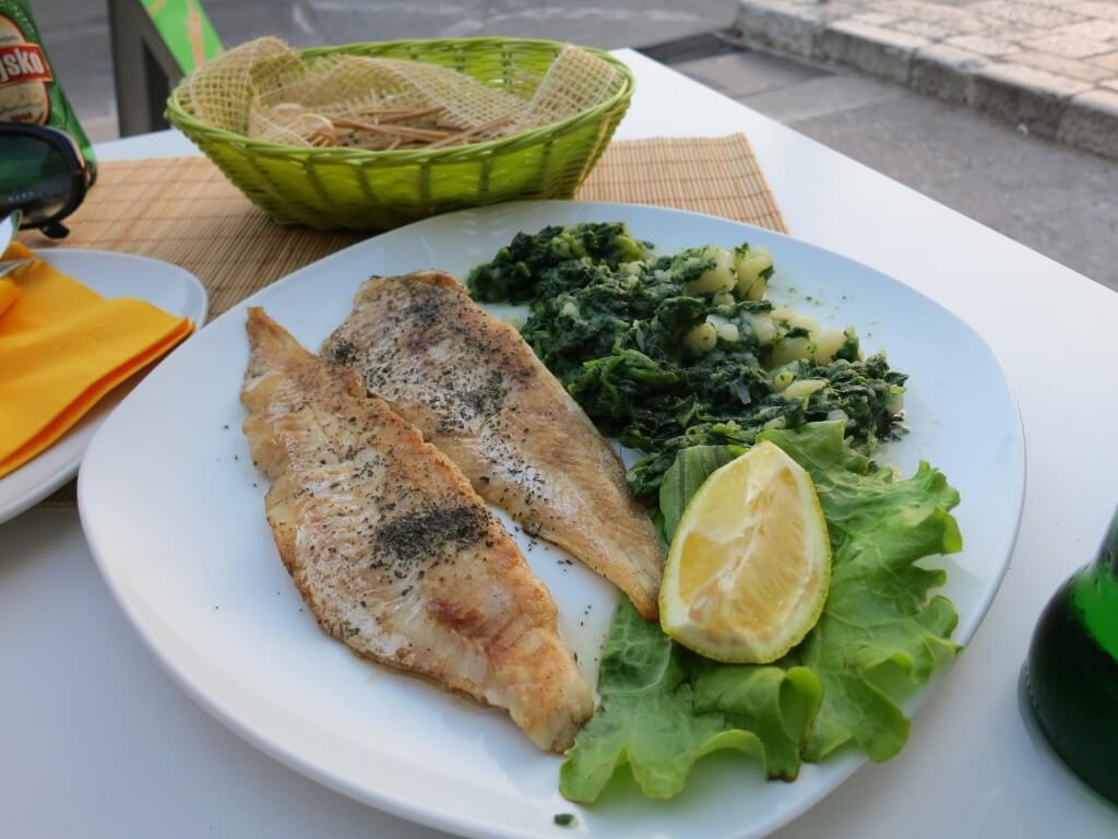 ドブロブニク 魚のムニエル