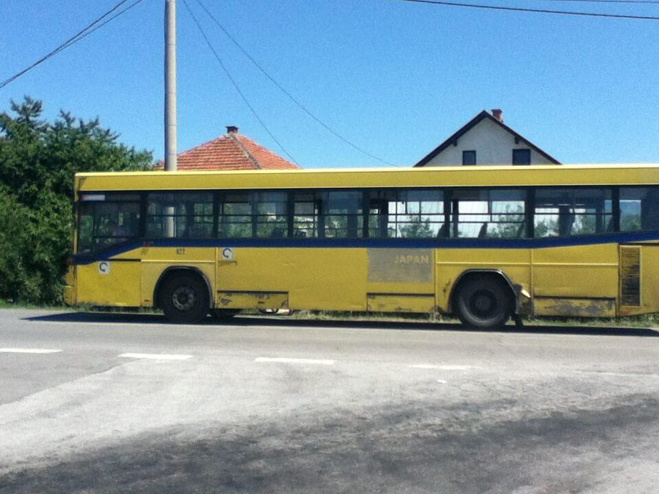 サラエボ 日本製のバス
