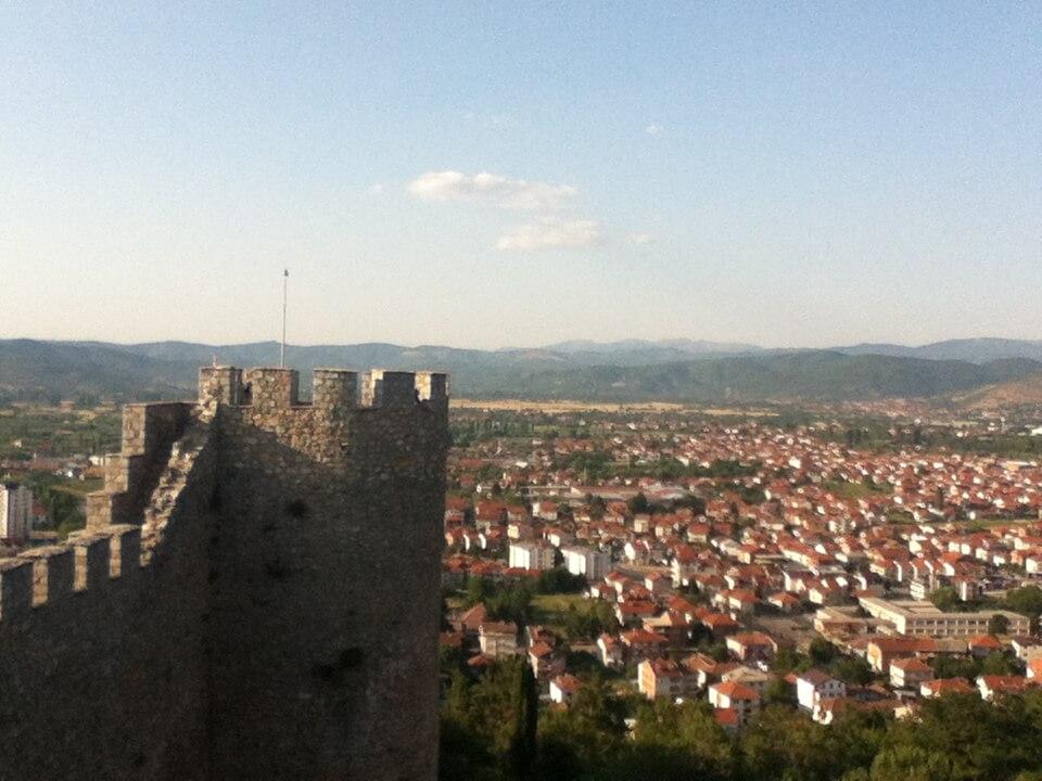 サミュエル要塞からのオフリド湖、街の眺めは最高の景色
