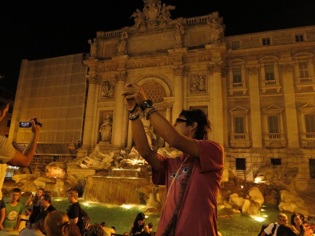 イタリア ローマ観光 トレビの泉