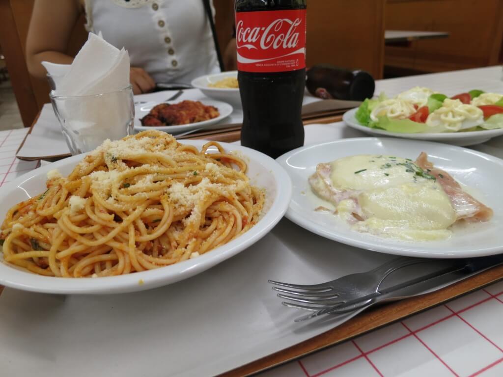 今日のコーラ イタリア料理最高!