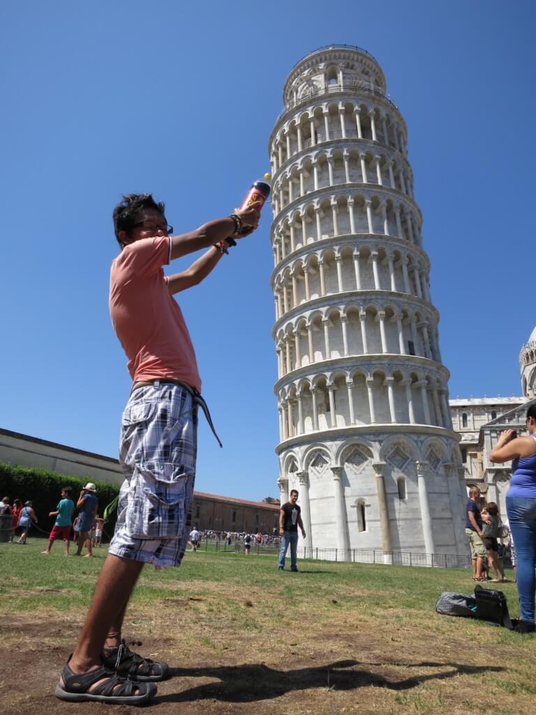 ピサの斜塔には登れるんだよ!