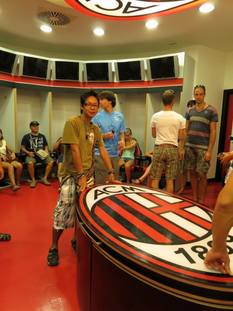 サン・シーロ スタジアム ACミラン側 控え室 ミラノ イタリア