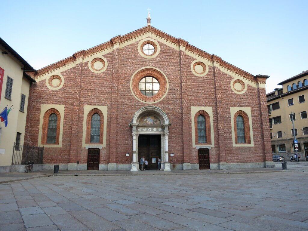 サンタ・マリア・デッレ・グラツィエ教会でかのもっとも有名な作品レオナルドダヴィンチの「最後の晩餐」