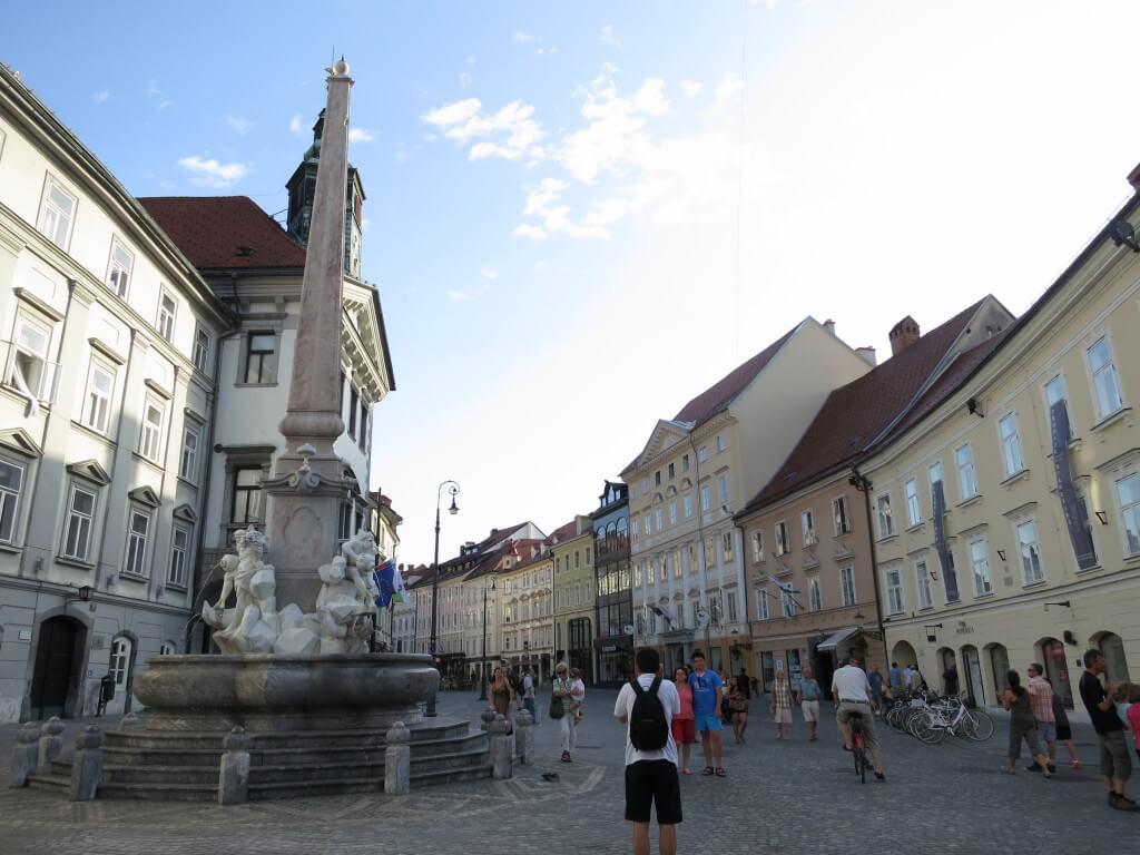 スロベニア リュブリャナ 街並み
