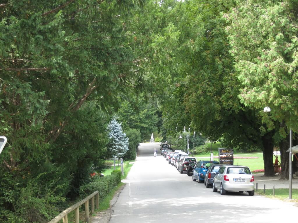 ブレッド湖 木々の道 スロベニア