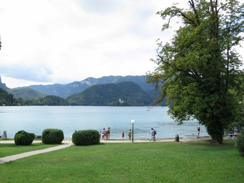 ブレッド湖 青色 スロベニア
