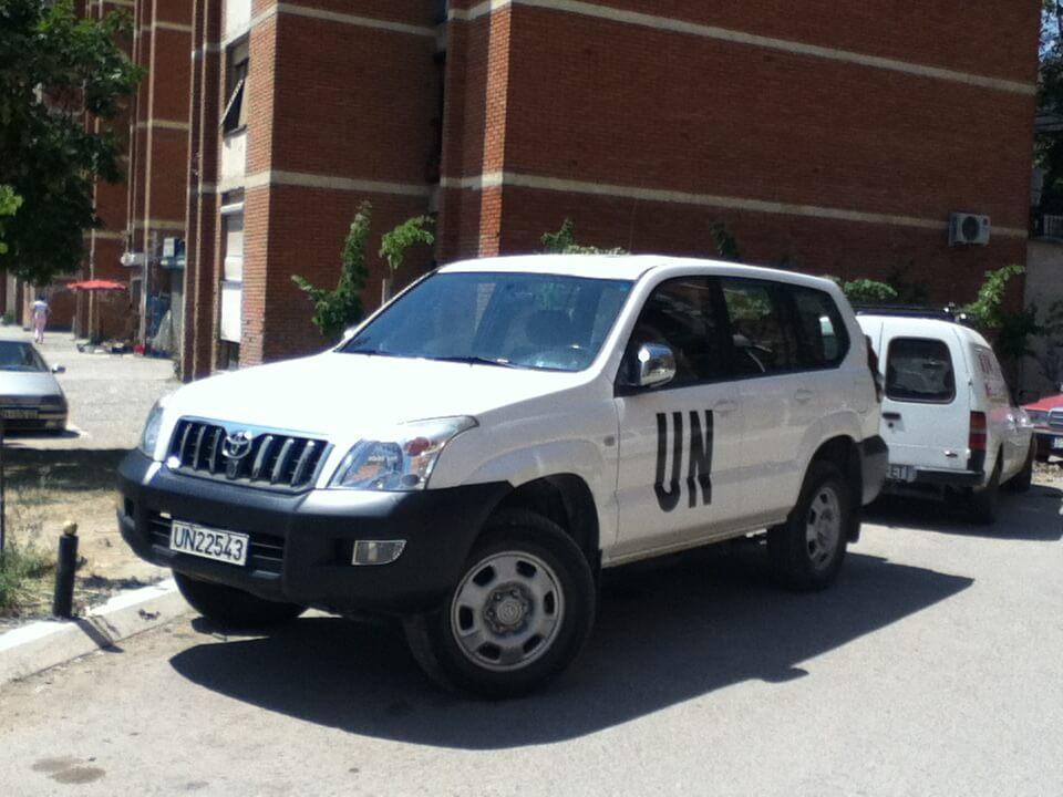 コソボ プリシュティナ UN 国連関係の車
